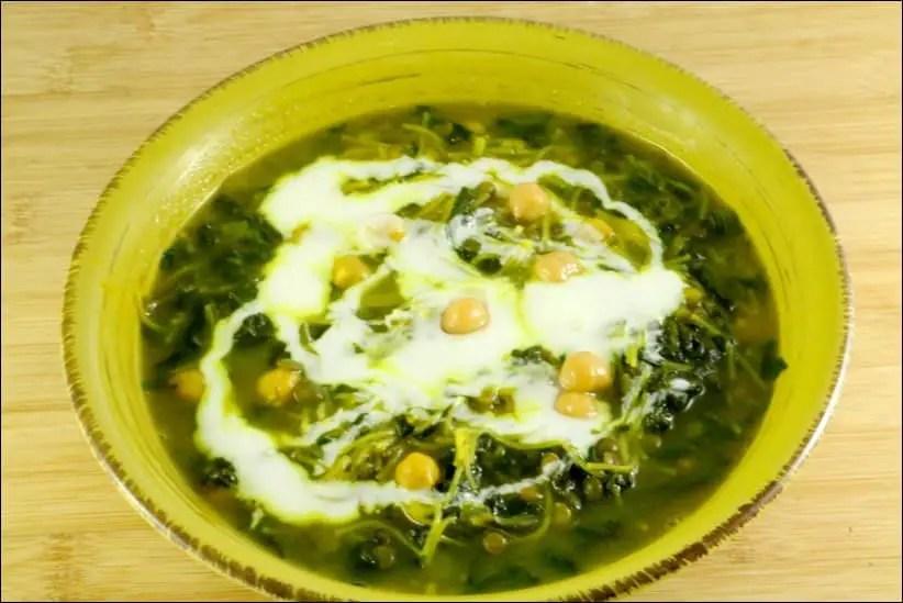 soupe epinard menthe
