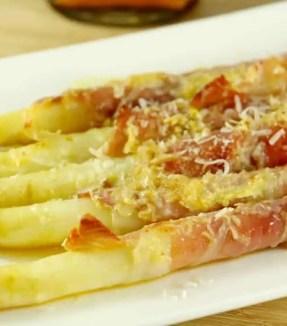 asperges gratinées au jambon cru