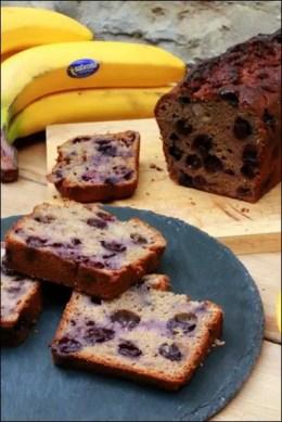 banana bread cake myrtilles