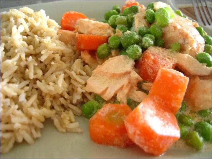 blanquette saumon petits pois