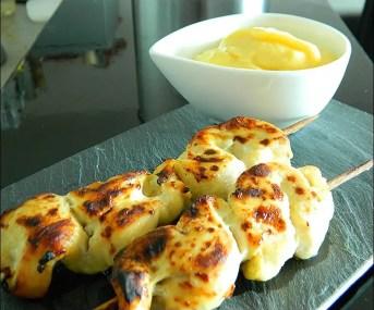 brochettes poulet marinées orange