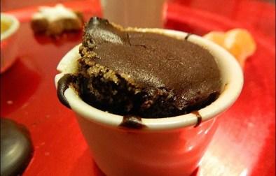 soufflés au chocolat et aux marrons
