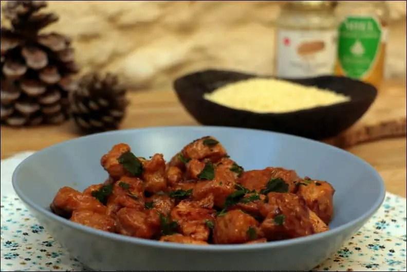 bouchées de porc au miel et tahiné