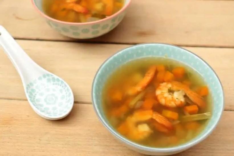 bouillon de crevettes thai