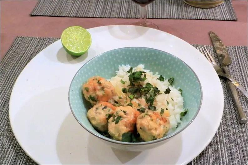boulettes de poulet façon thaï