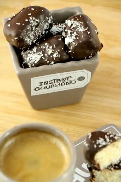 mini bouchée coco chocolat