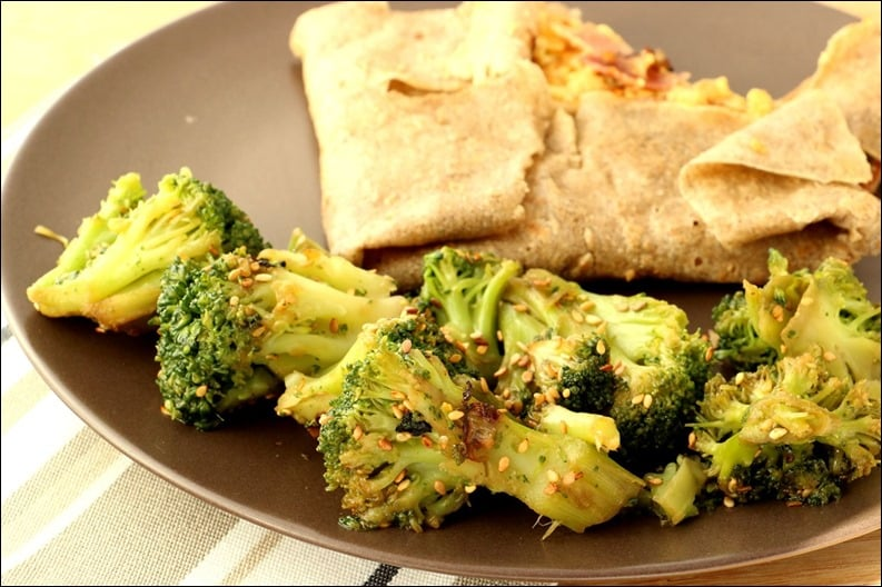 brocolis sauce soja