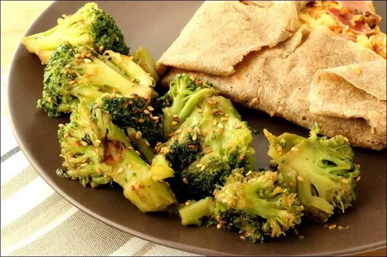 brocolis sauté sauce soja et sésame