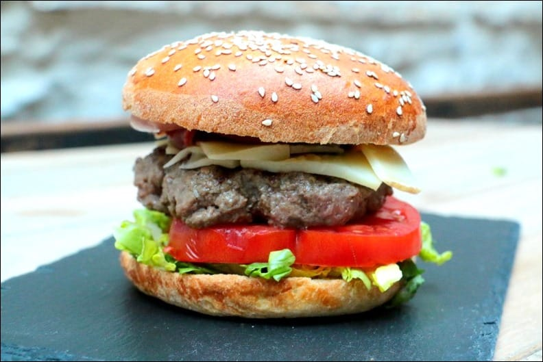 burger boeuf jambon fromage
