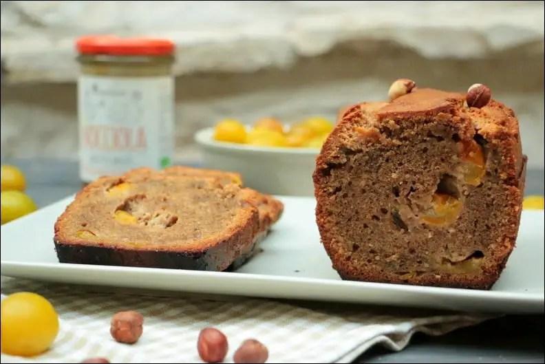 cake lorrain aux noisettes et mirabelles