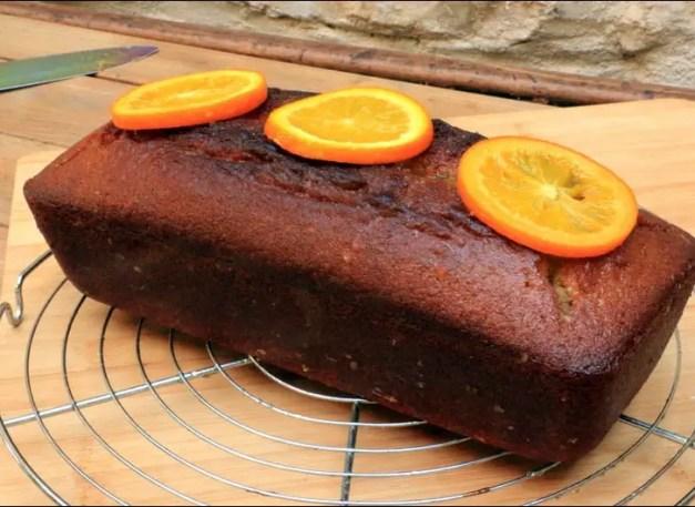 cake orange arrosé