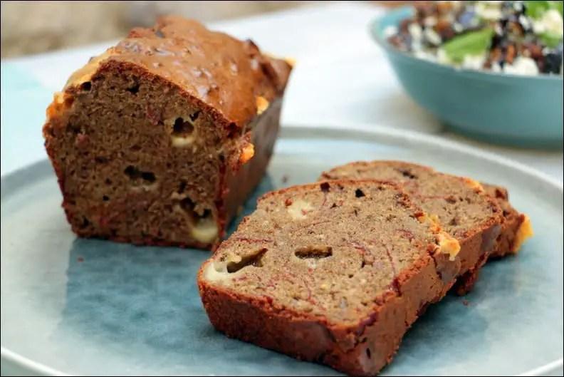 cake à la viande des Grisons, comté et noix