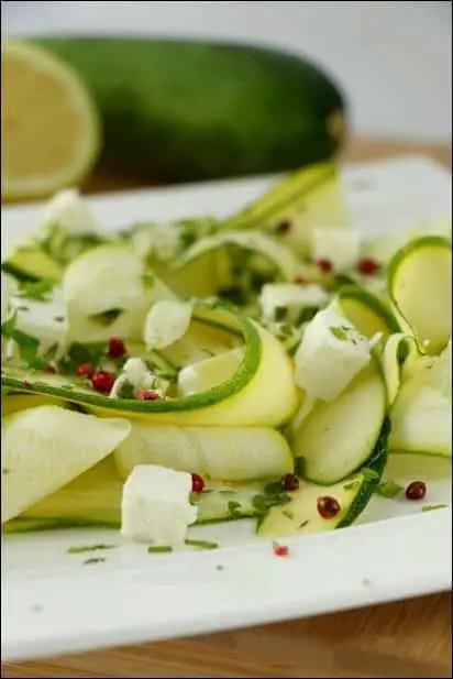 salade courgette crue feta