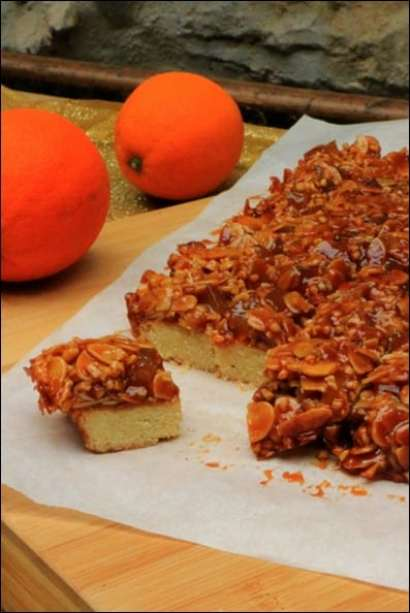 sablés caramel orange amandes