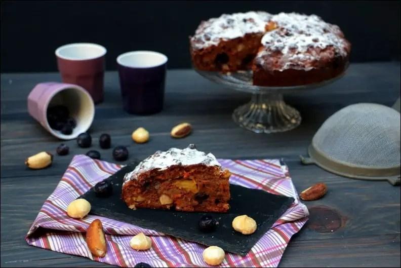 cake carotte myrtilles