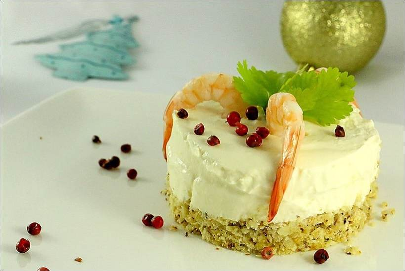 cheesecake aux crevettes