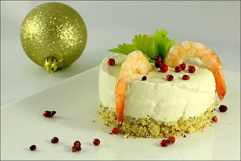 cheesecakes individuels aux crevettes