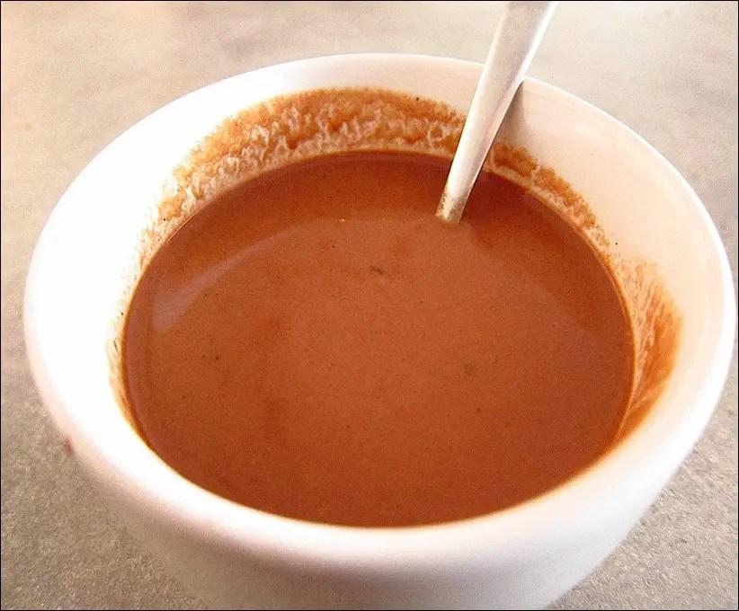 chocolat chaud à l'ancienne épais
