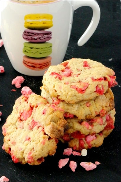 recette cookies pralines roses chocolat