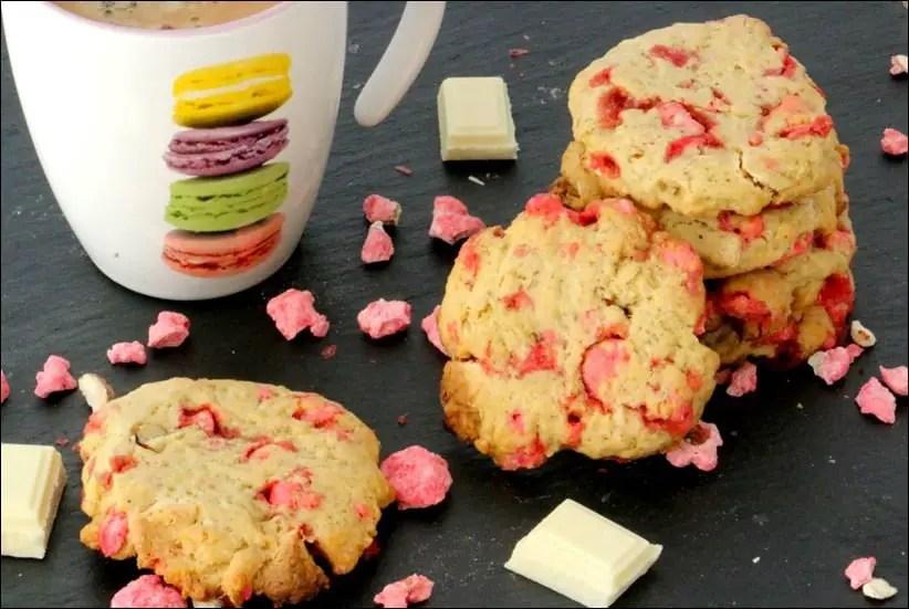 cookies aux pralines et chocolat blanc