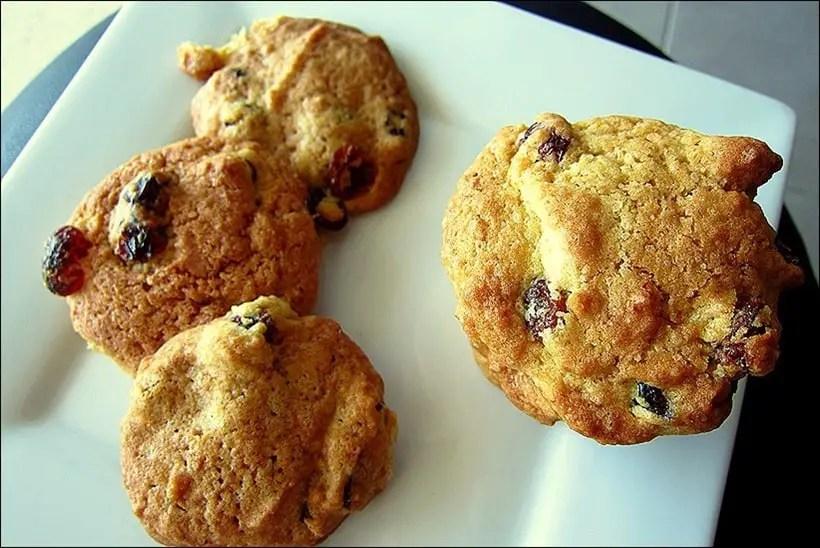 cookies raisins cranberries
