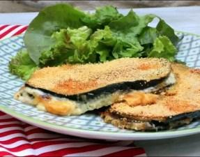 tranche aubergine panee