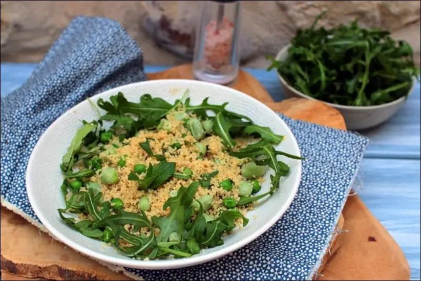 couscous végétarien aux fèves et petist pois