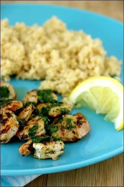 recette de crevettes sautées à l'ail
