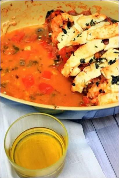 crevettes feta grecque