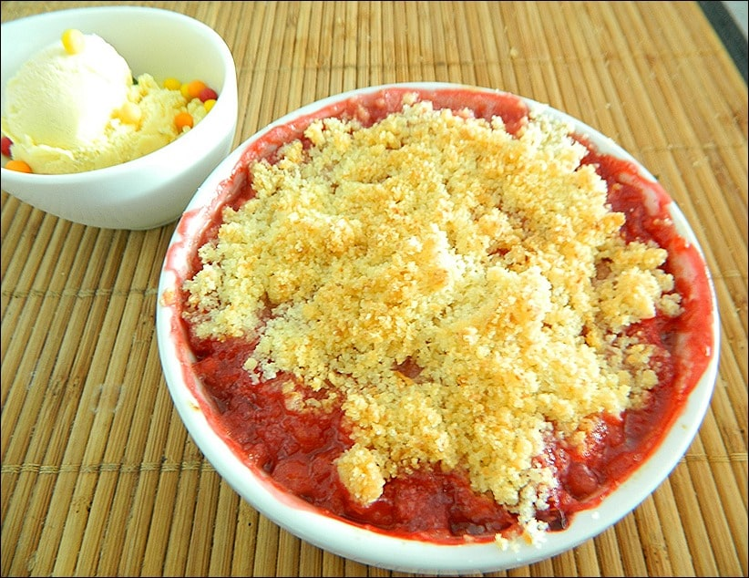 crumble fraise coco