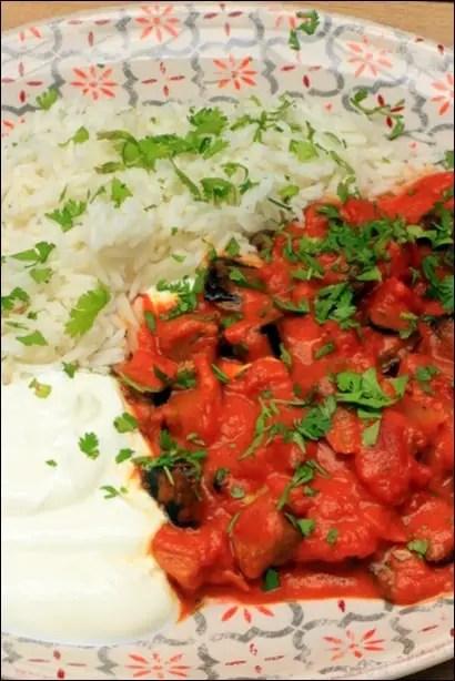 curry légumes aubergine