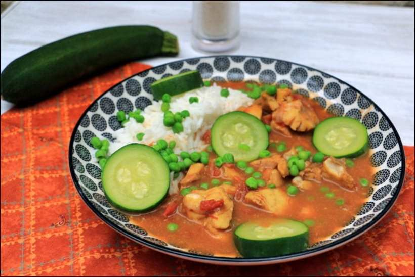 curry de poisson blanc tomates