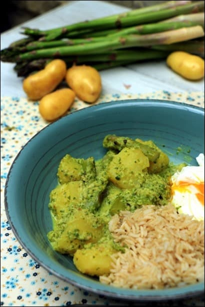 curry vert végétarien
