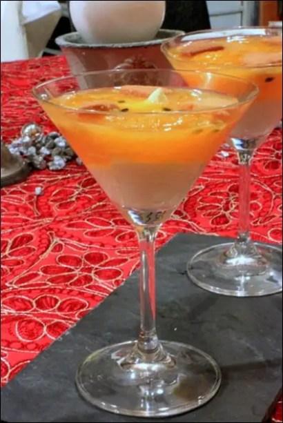 verrines cream cheese orange passion