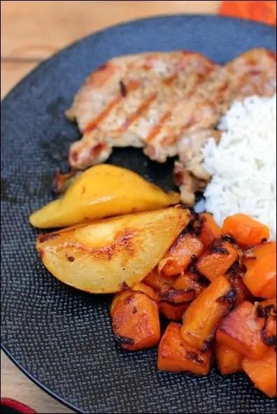 porc aux poires caramélisées
