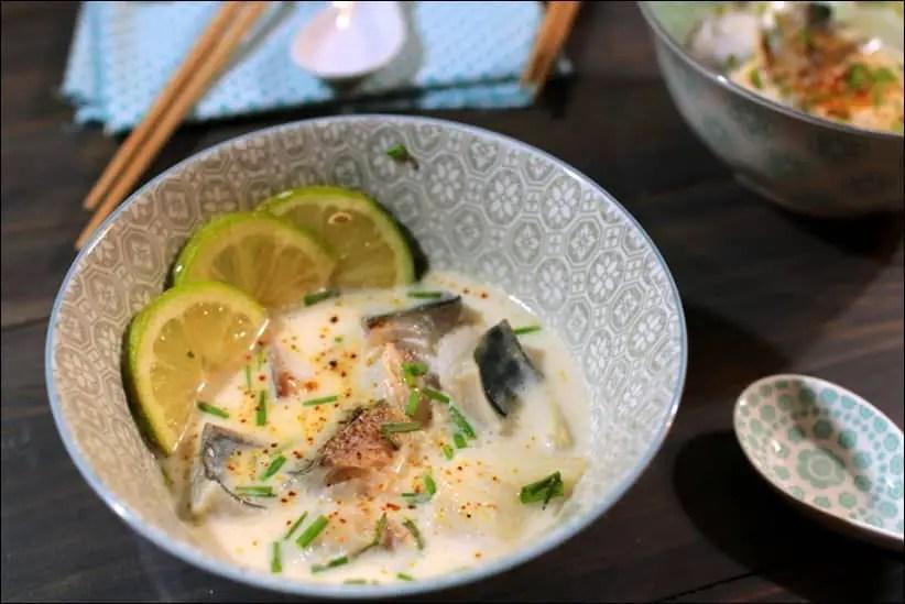 Filets De Maquereau Au Bouillon Thai Coco Citronnelle Happy Papilles
