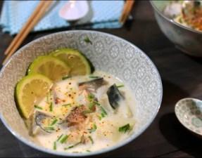 filets de maquereau au bouillon thaï coco citronnelle