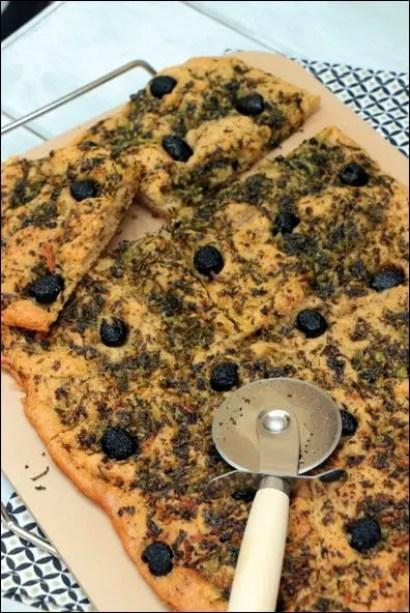 focaccia olives