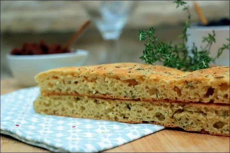 recette de focaccia sans gluten
