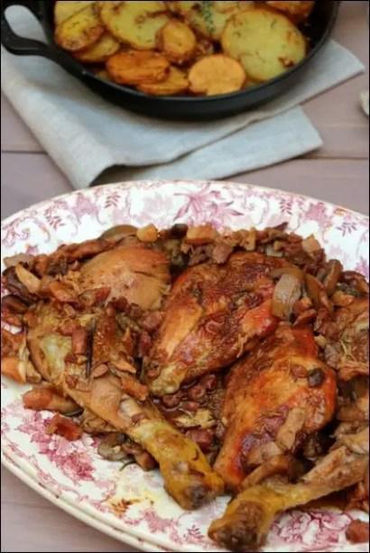 fricassée poulet cognac armagnac