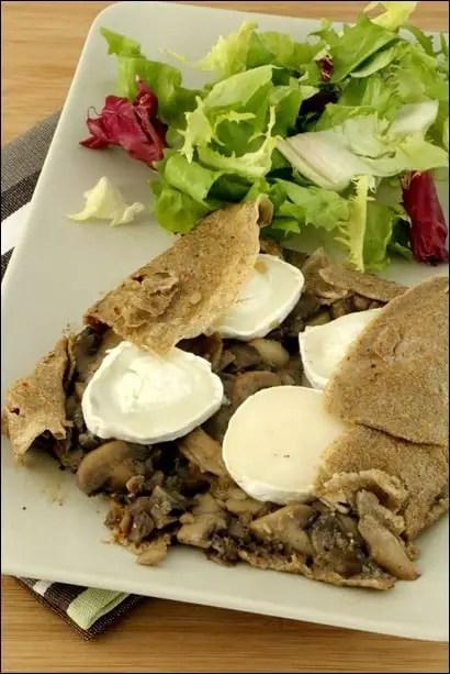 galette sarrasin champignons chèvre