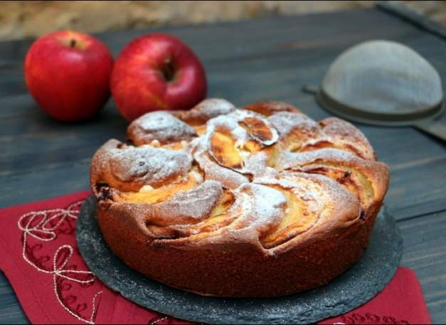 gateau moelleux aux pommes