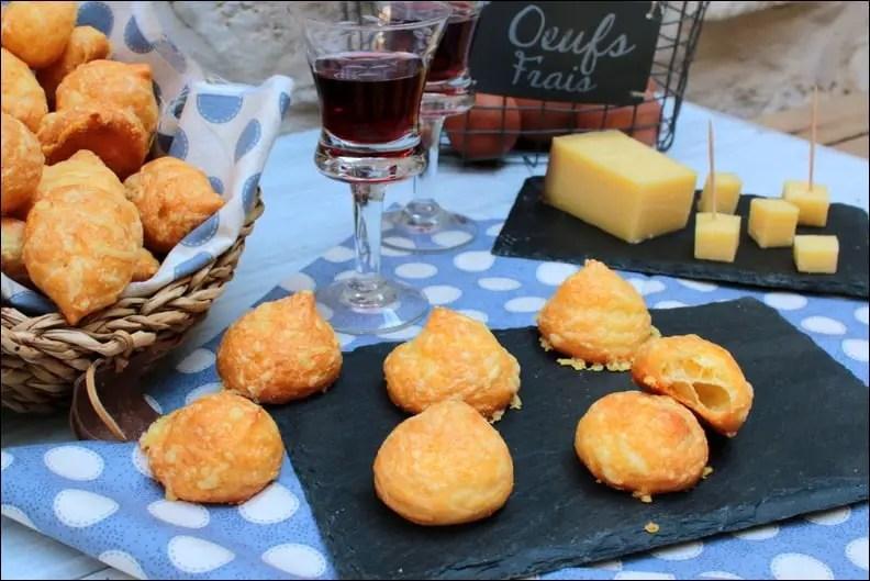 Gougères au fromage de Bernard