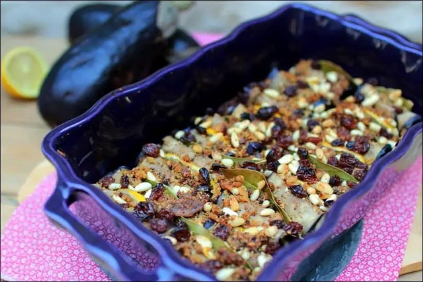 gratin aubergine pignons