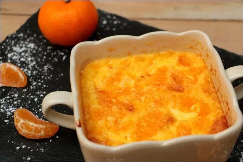 gratin mandarine fleur d'oranger
