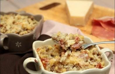 gratin de crozets au jambon