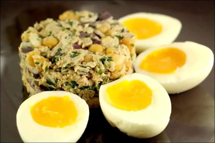 salade de thon et pois chiches