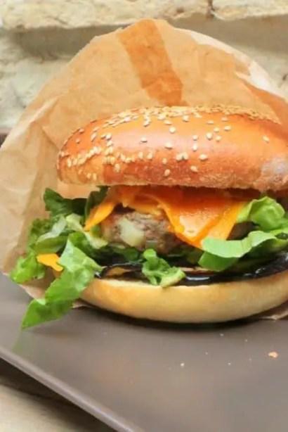 burger d'agneau haché