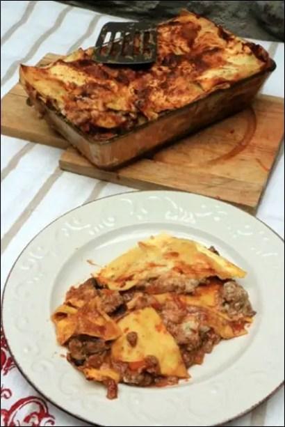 lasagnes veau champignons
