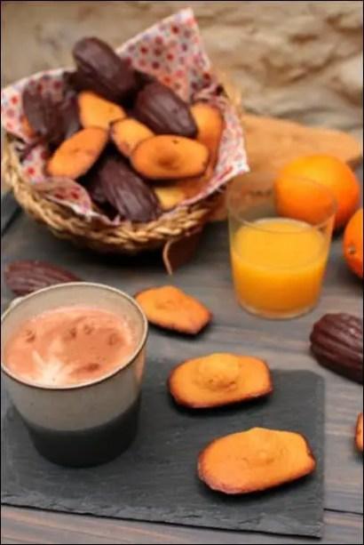 madeleines chocolat coque